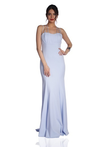 6ixty8ight Uzun Abiye Elbise Mavi